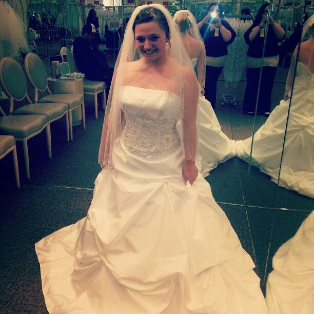 Me in my wedding dress