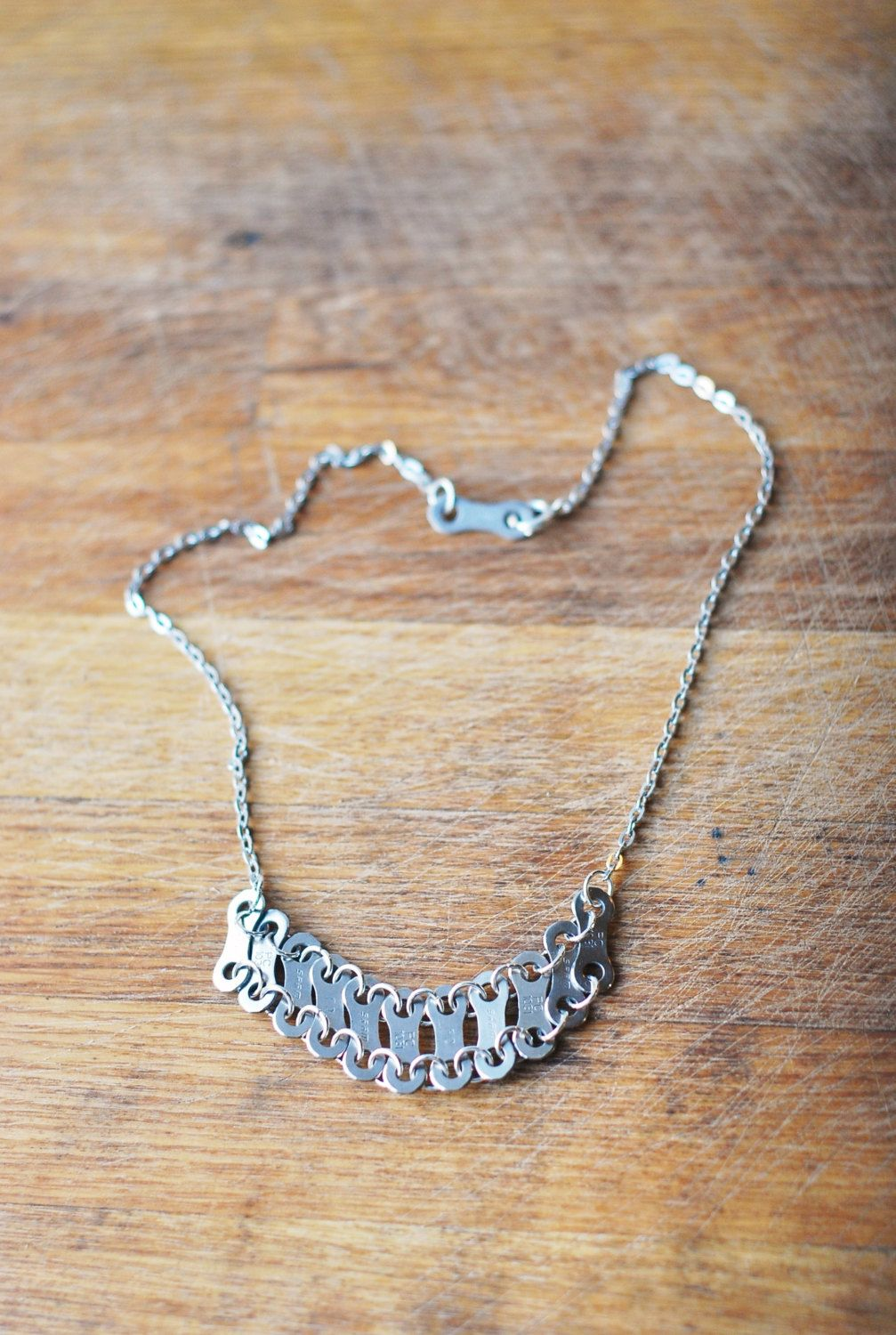 Glam Bike Chain Necklace /// Upcycled /// Bicycle Gift by KatiesBike on Etsy https://www.etsy.com/listing/167645530/glam-bike-chain-necklace-upcycled