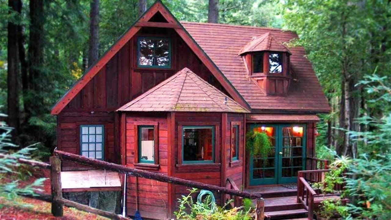 Cozy Beautiful Redwood Cabin On 1.3 Fenced Acres High On