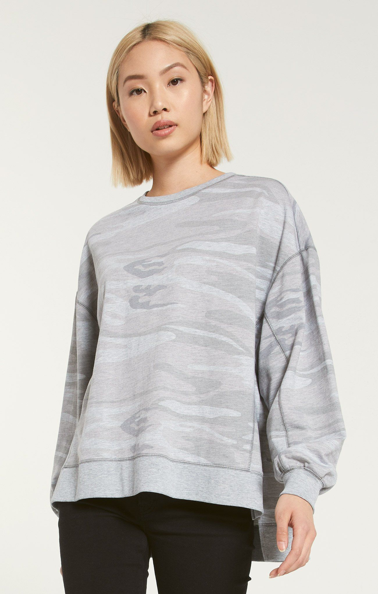 Modern Camo Weekender In 2020 Comfy Sweatshirt French Terry Fabric Relaxed Style
