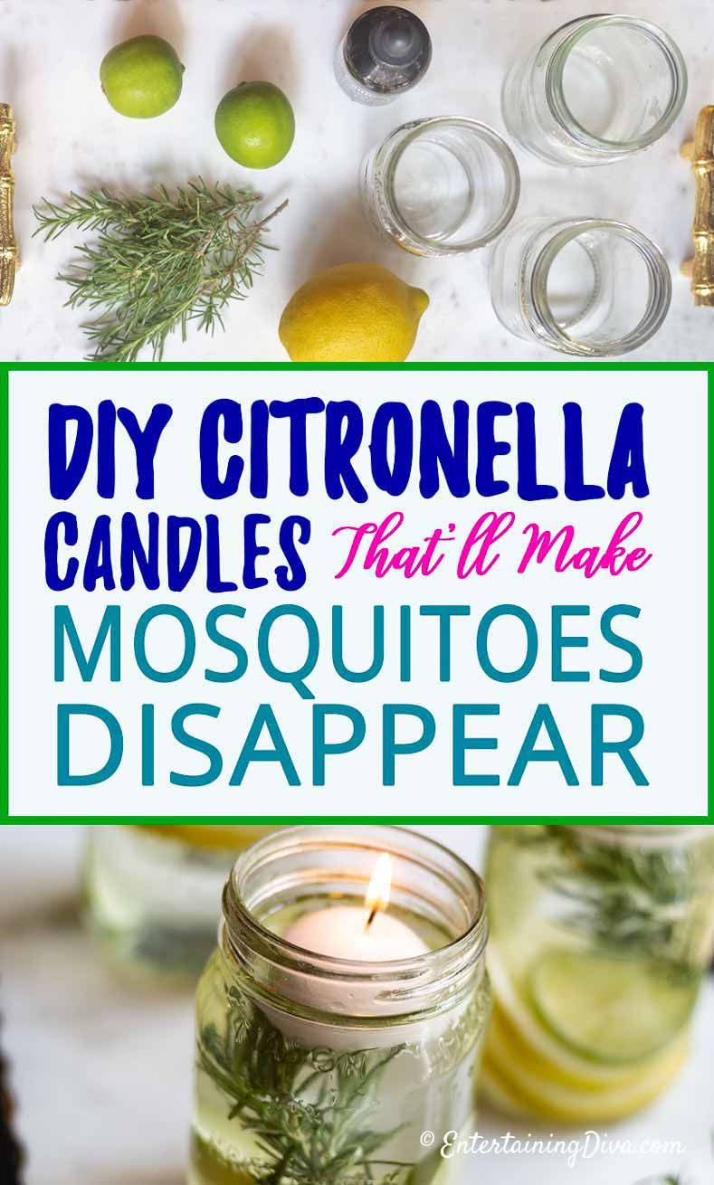 Super Simple Diy Citronella Candles No Wax Required Entertaining Diva From House To Home Citronella Candles Diy Diy Citronella Citronella Candles