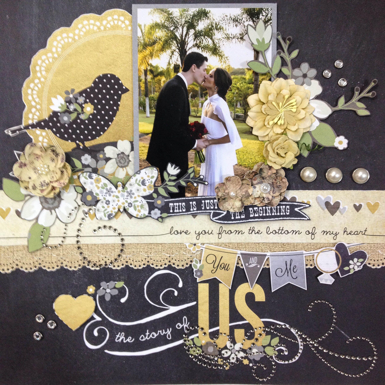 Scrapbook ideas romantic - The Story Of Us Scrapbook Wedding Layout