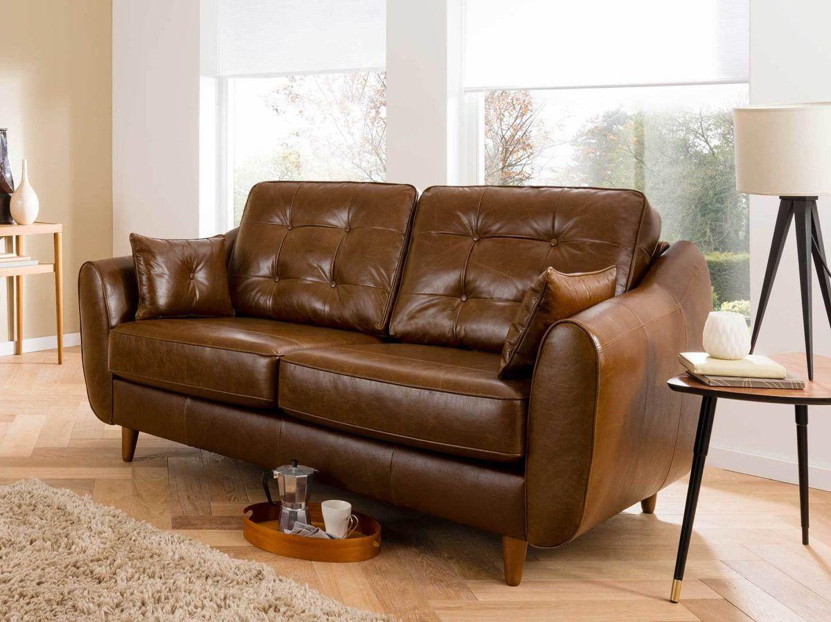 Brand new Retro Style Leather Sofa | www.Gradschoolfairs.com UB66