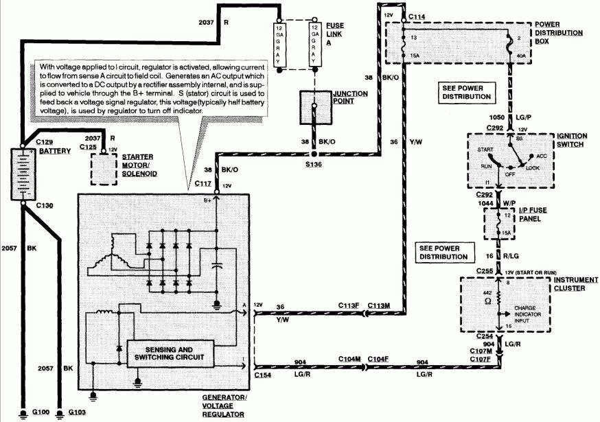 16 1998 lincoln town car alternator wiring diagram1998