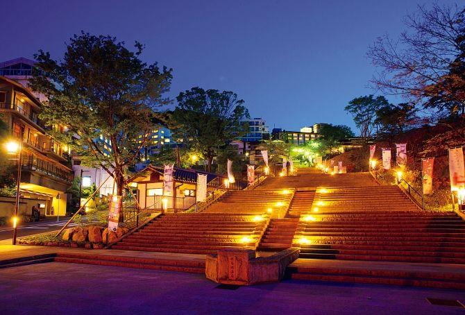 伊香保温泉 夜の石段街 伊香保温泉 温泉 美しい場所