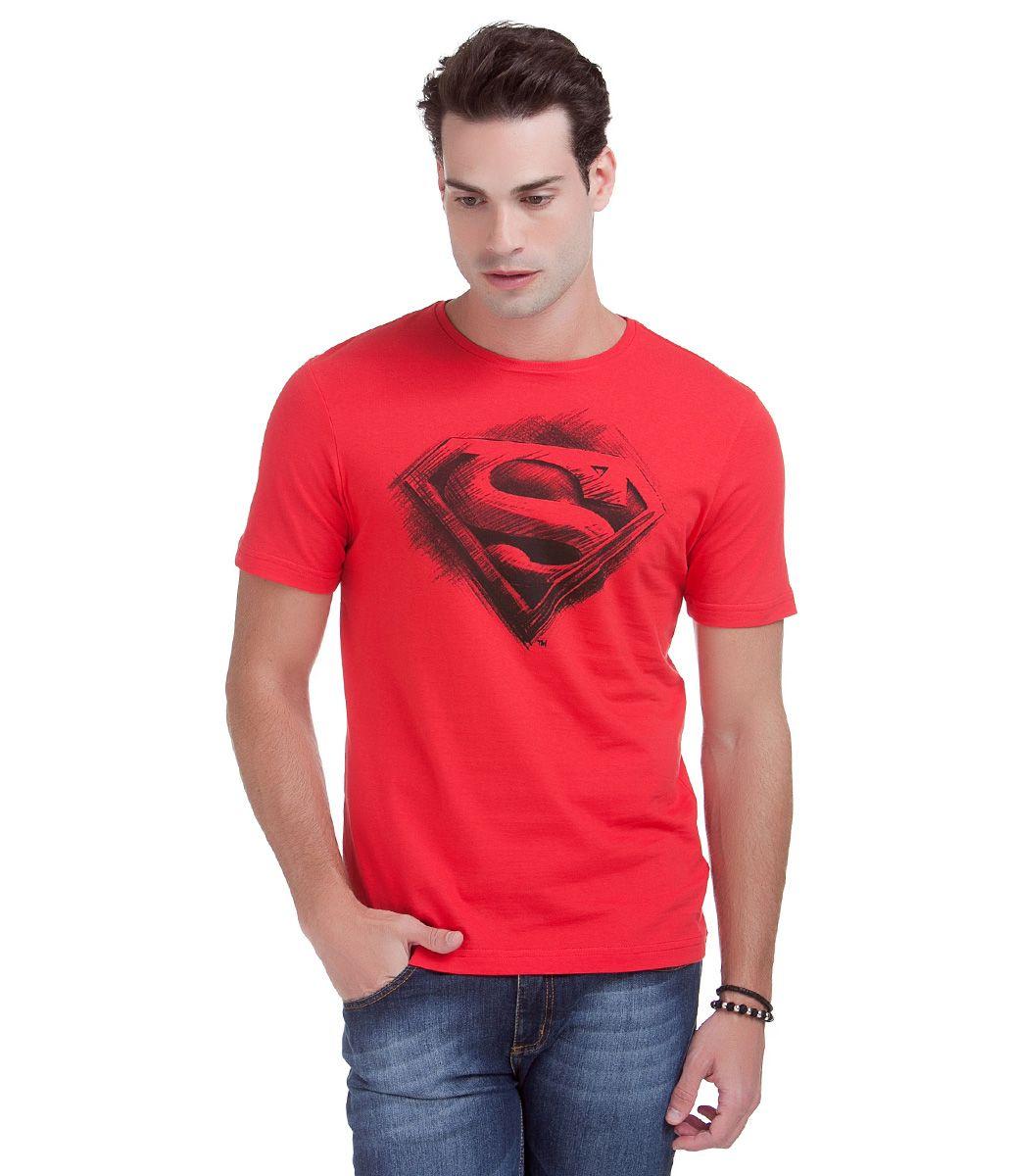 6dd22b01da Camiseta masculina Manga curta Estampa do super herói Superman Marca  Blue  Steel Tecido  Malha Composição  100% algodão Modelo veste tamanho  M COLEÇÃO  ...