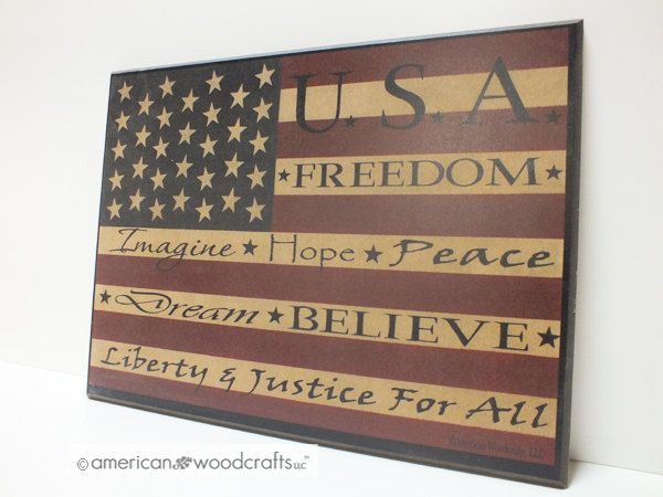 Americana Wall Decor Plaques Signs Americana Sign Flag Sign Wood Plaque Signsamericanwoodcrafts
