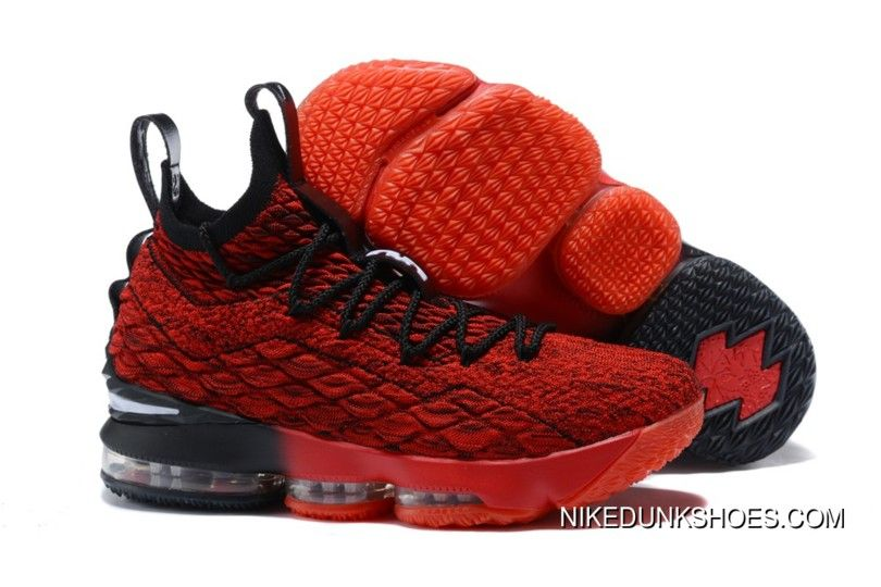 new style 102df 393c8 2017 Nike Lebron 15 Pes Red And Black Super Deals in 2019 ...