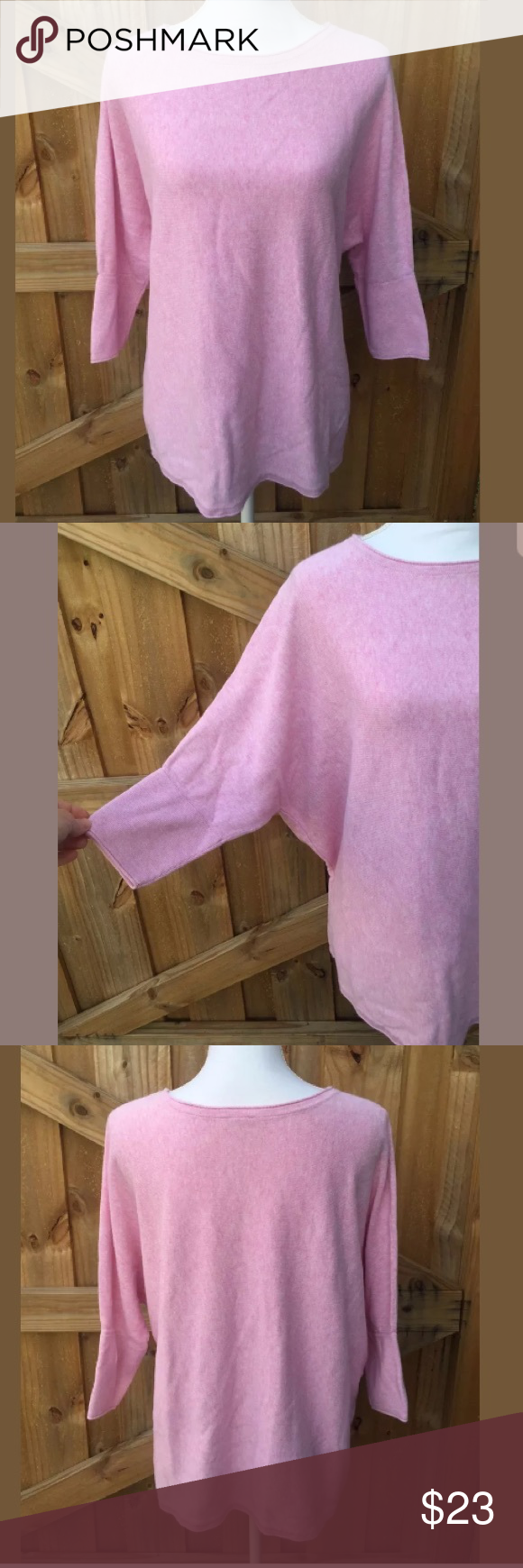 """Pure Jill Pink Oversized Sweater Size Medium This is a beautiful Pure Jill oversized Sweater Size Medium. Please see photos fore more details. ❤️ *This is oversized, not a regular medium*  Armpit to armpit-29"""" Length-26  If you have any questions please just ask. Thanks for looking! Pure Jill Sweaters Crew & Scoop Necks"""