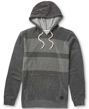 Obey Men/'s Prospect Faded Black Pullover Cotton Hoodie