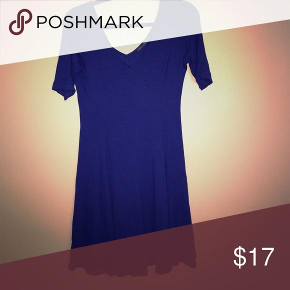 Blue skater dresss Cute blue skater dress. V neck. Sleeve Hits mid upper arm. Soprano Dresses