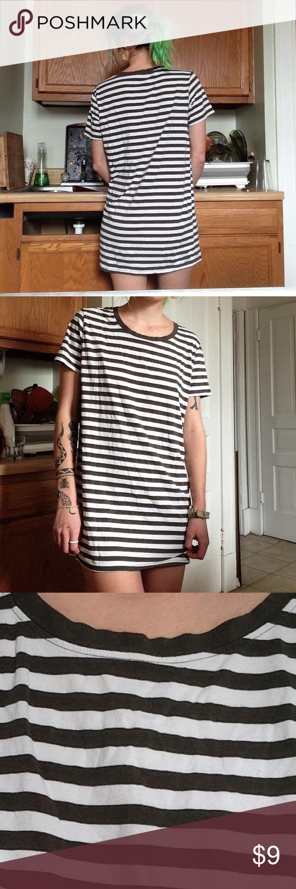 Stripe t shirt dress urban outfitters dress urban uutfitters