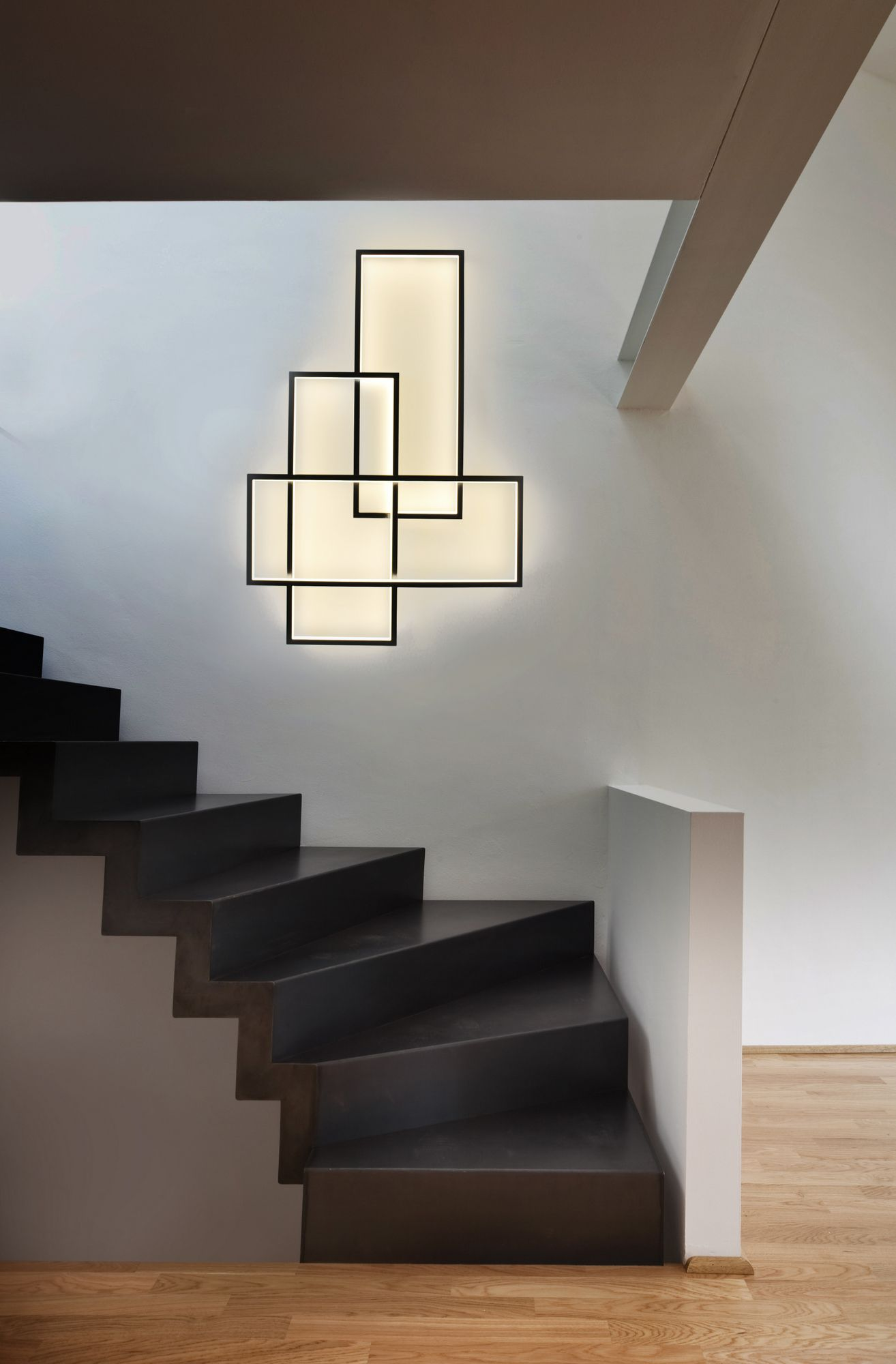 LED Indirect Light Wall Lamp TRIO LT By CINIER Radiateurs Contemporains