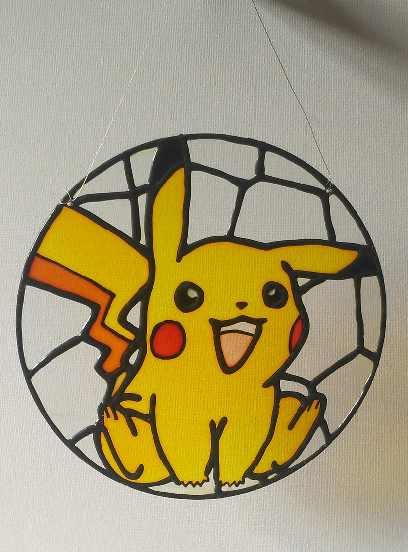 Stained Glass Starter Pokemon made by David Cannon -