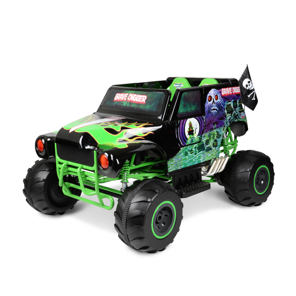Electric toy Vehicles Beautiful Monster Jam Grave Digger ...