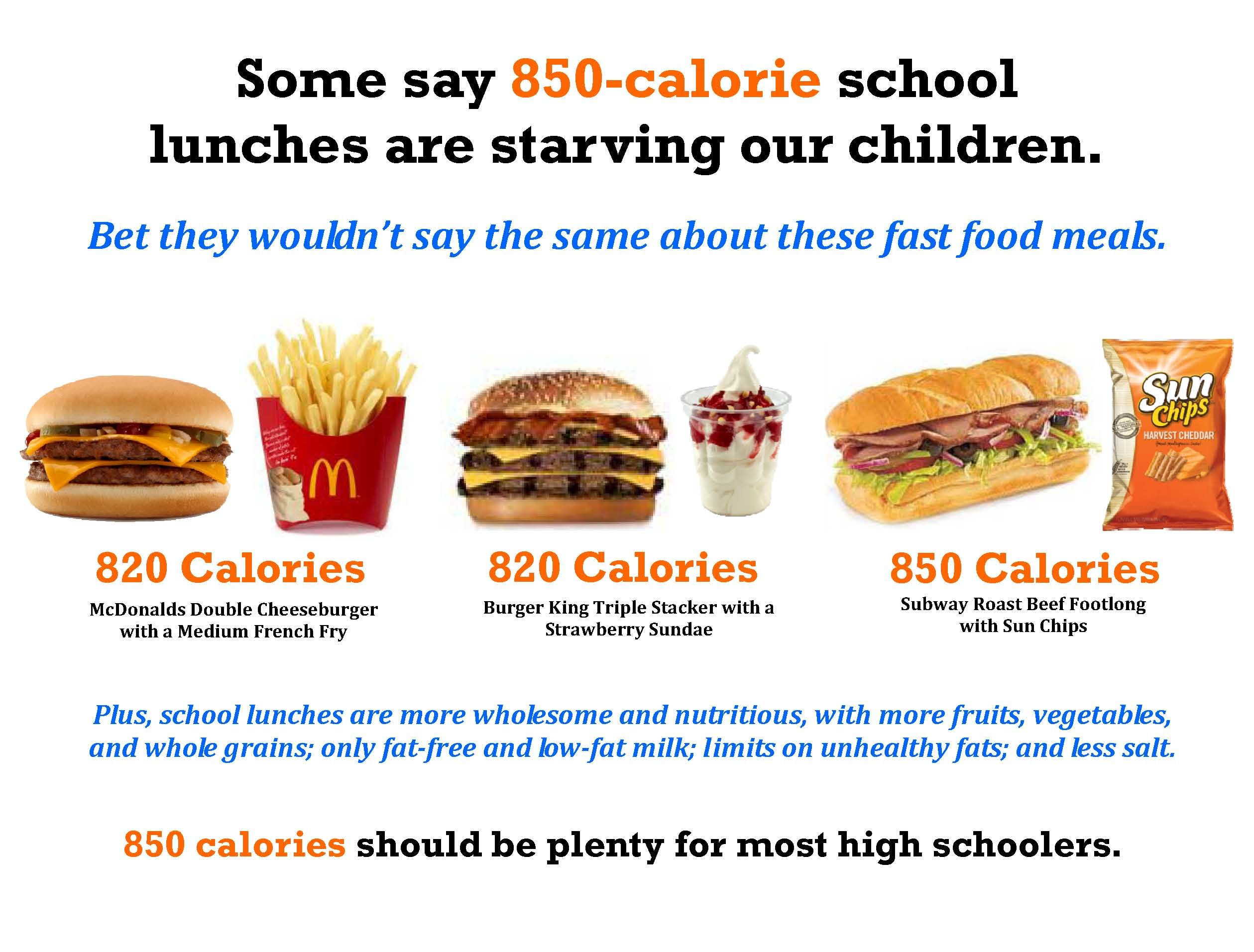 Seems 850 Calories Should Be Plenty For Most High