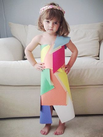 4 Year Old Fashion Designer Makes Paper Dresses Young Fashion Designers Paper Dress 4 Year Old Girl