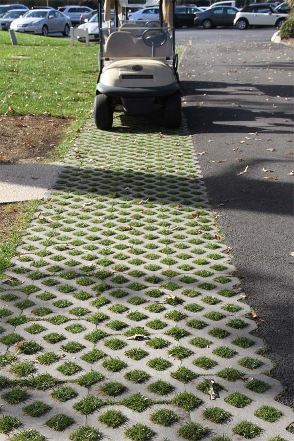 Turfstone Is A Thick Square Slab With Open Grids That
