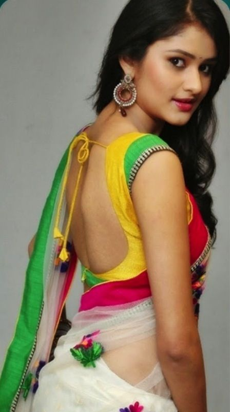 Pointed indian teen in sexy clothing photo