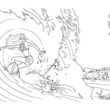 12++ Barbie coloring pages surfing ideas
