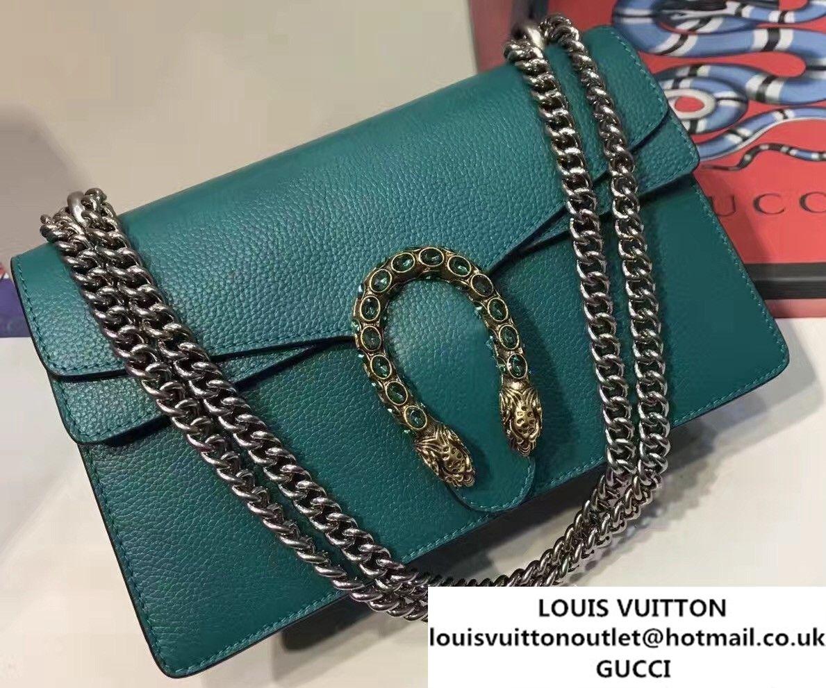 f91190163b8c0 Gucci Dionysus Leather Shoulder Small Bag 400249 Green 2017