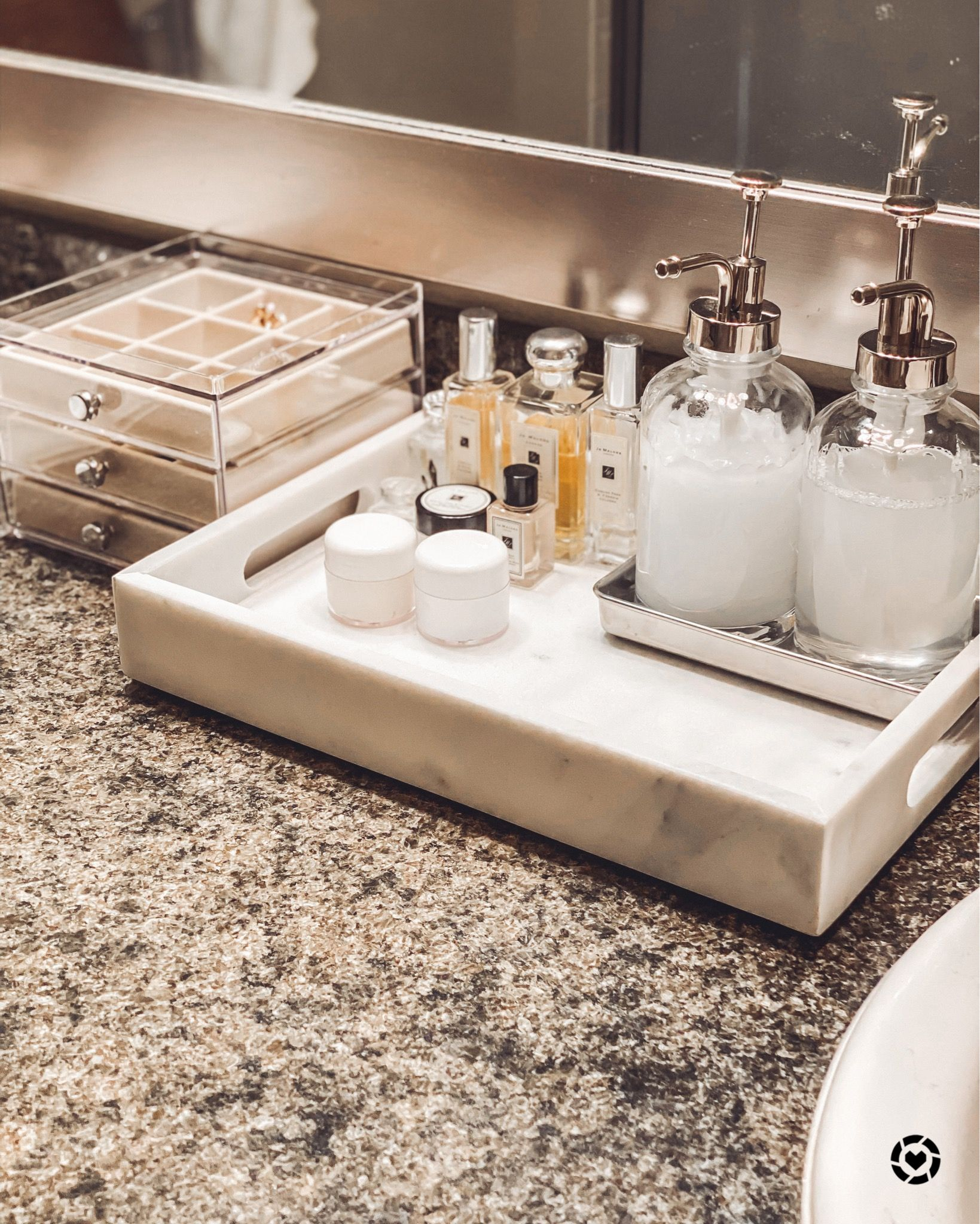 Target Items For Bathroom Countertop Organization Marble Tray