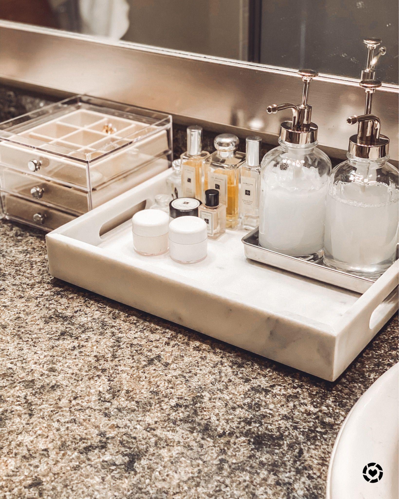 Bathroom Counter Organization In 2020 Bathroom Counter Organization Bathroom Counters Bathroom Counter Decor