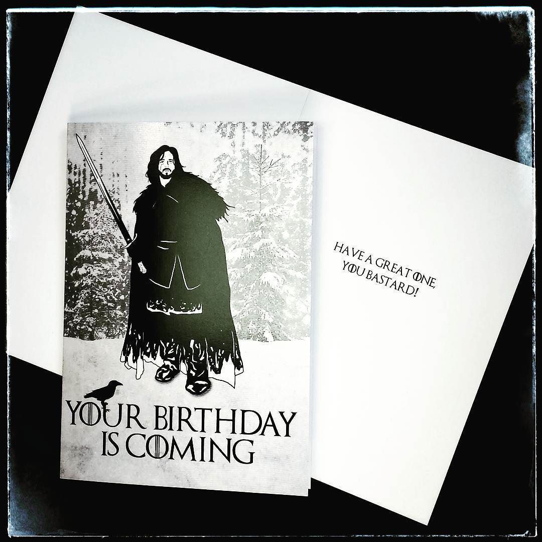 Game of Thrones themed birthday card Suitable for any fan