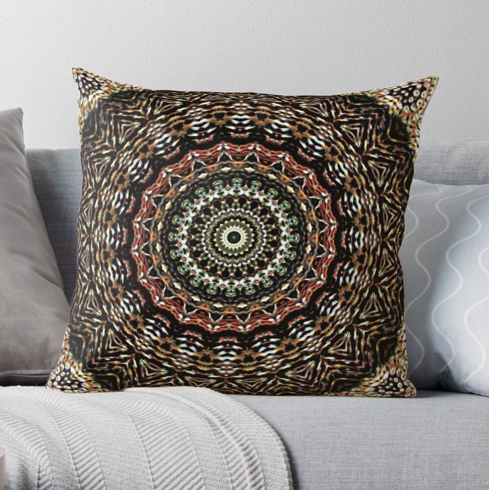 Natural mandala from the earth: It is the Mandala of the earth, of the natural, of the material world. It has to do with the need to take root or find a place in the world that is your own. Connect with the life that grows and take care of it. Stability and firmness. #throwpillow #pillow #mandalapillow #bohopillow #decorativepillows #pillowcovers 3homedecor #bohodecor #cr6zym1nd #findyourthing