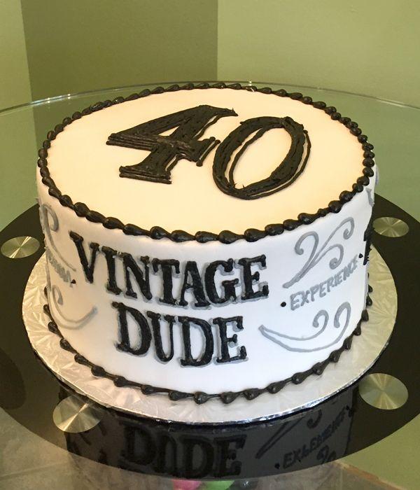 Vintage Dude Layer Cake 60th Birthday Cakes 40th Birthday Cakes