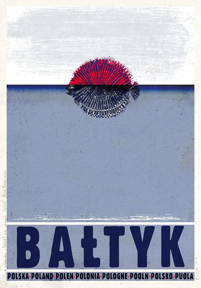 Polska Baltyk Plakat Promocyjny Ryszard Kaja Polish Poster Polish Posters Poster Design