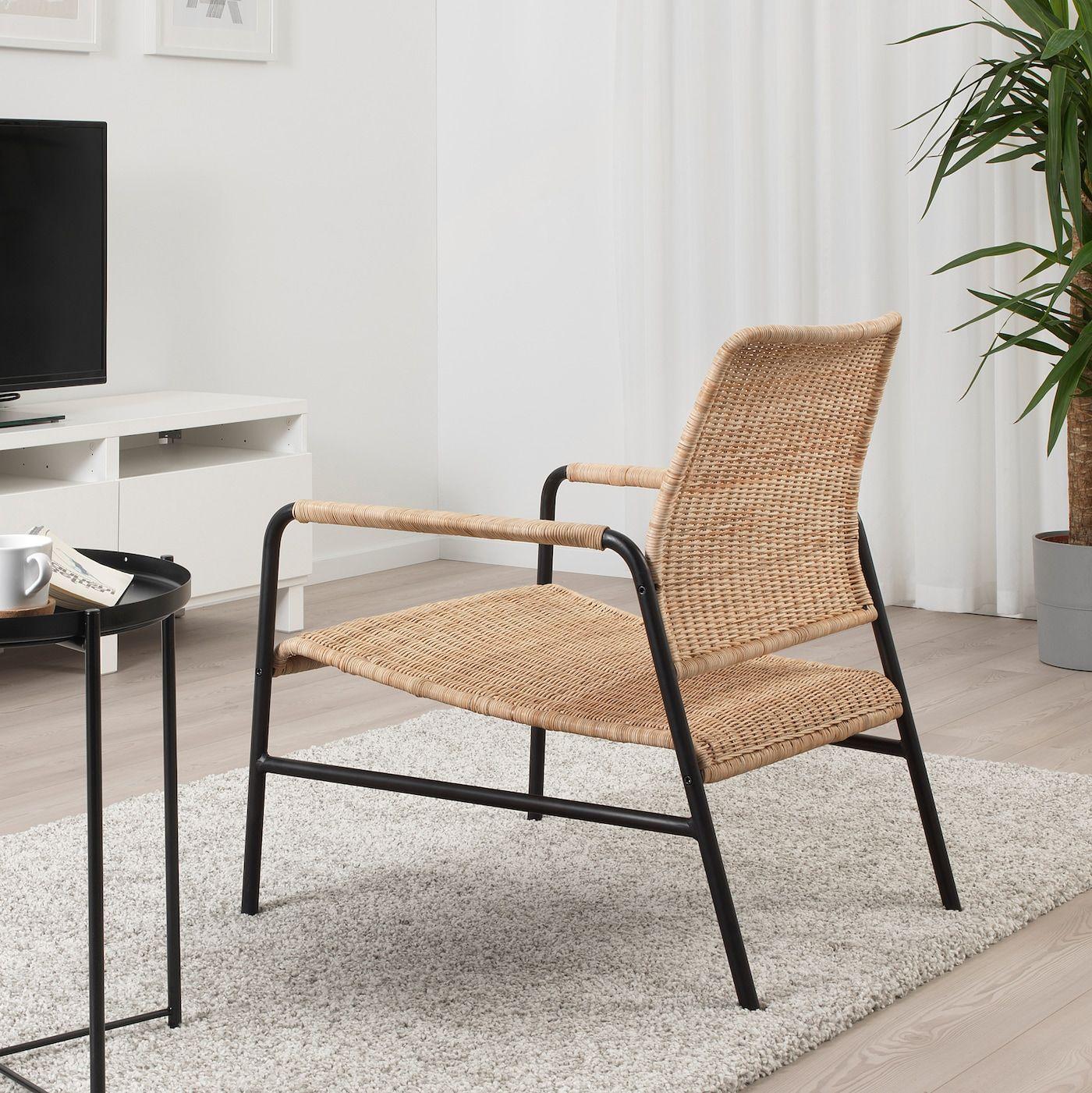 ULRIKSBERG Armchair rattan, anthracite IKEA in 2020