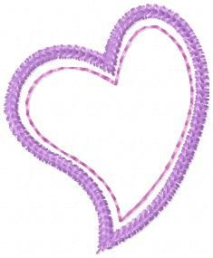 Free heart applique shape, just in time for valentine's Day! | Free