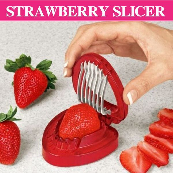 1Pcs New Strawberry Slicer Kitchens Cooking Gadgets Accessories