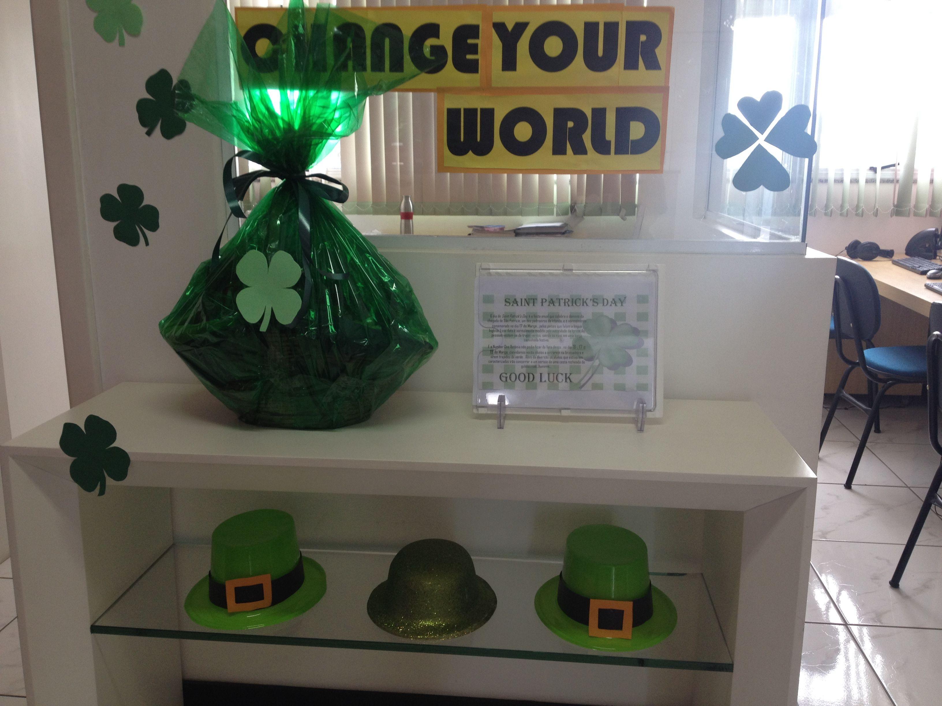 vamos realizar um sorteio para os alunos que vierem caracterizados (vestidos de verde) no dia 17 de março!
