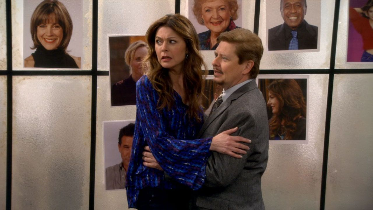 Jane Leeves Dave Foley Hot In Cleveland Episode Stills Season 6 Episode 13 Scandalous Dave Foley Jane Leeves Hot