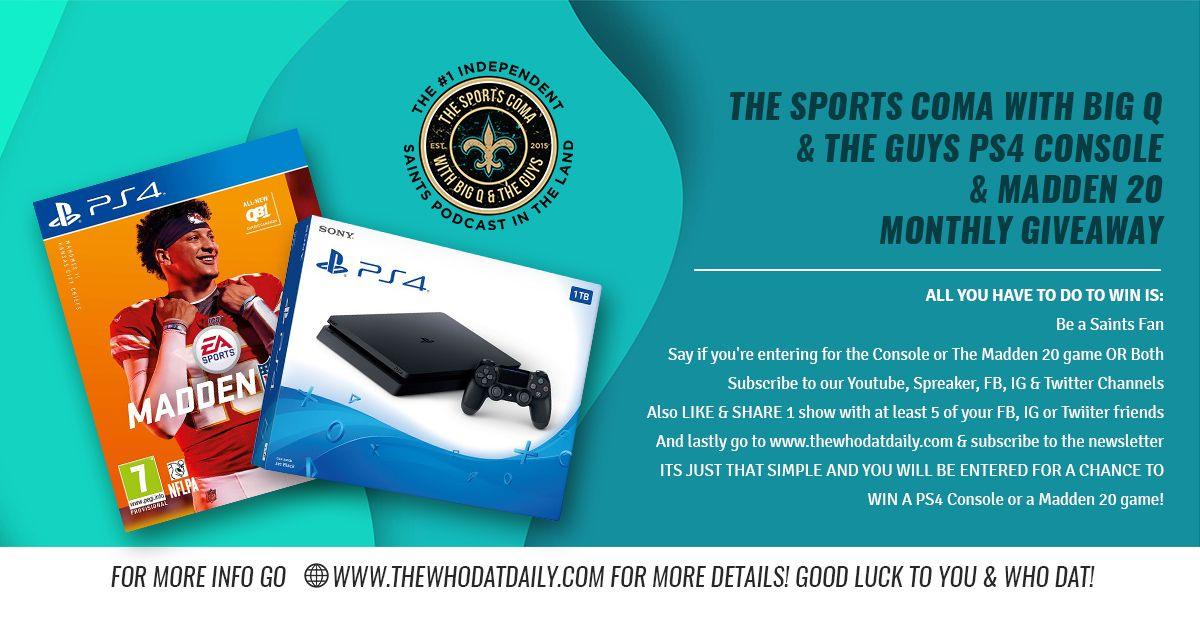 THE SPORTS COMA with Big Q & The Guys PS4 Console & Madden