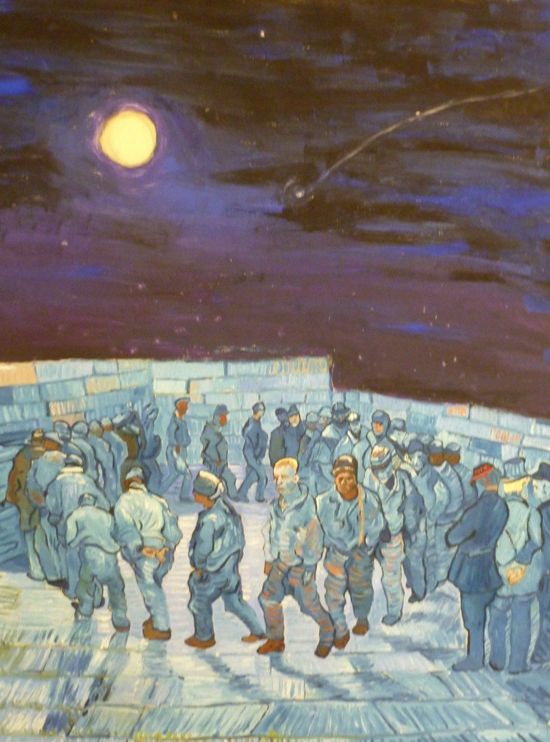 ORIGINAL Oil Painting: Into the prison with free moon. von Sieweart auf Etsy