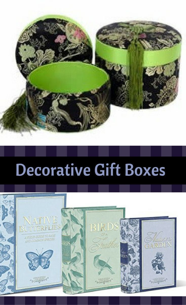 Large Decorative Gift Boxes Make For Charming Home Decor Also These
