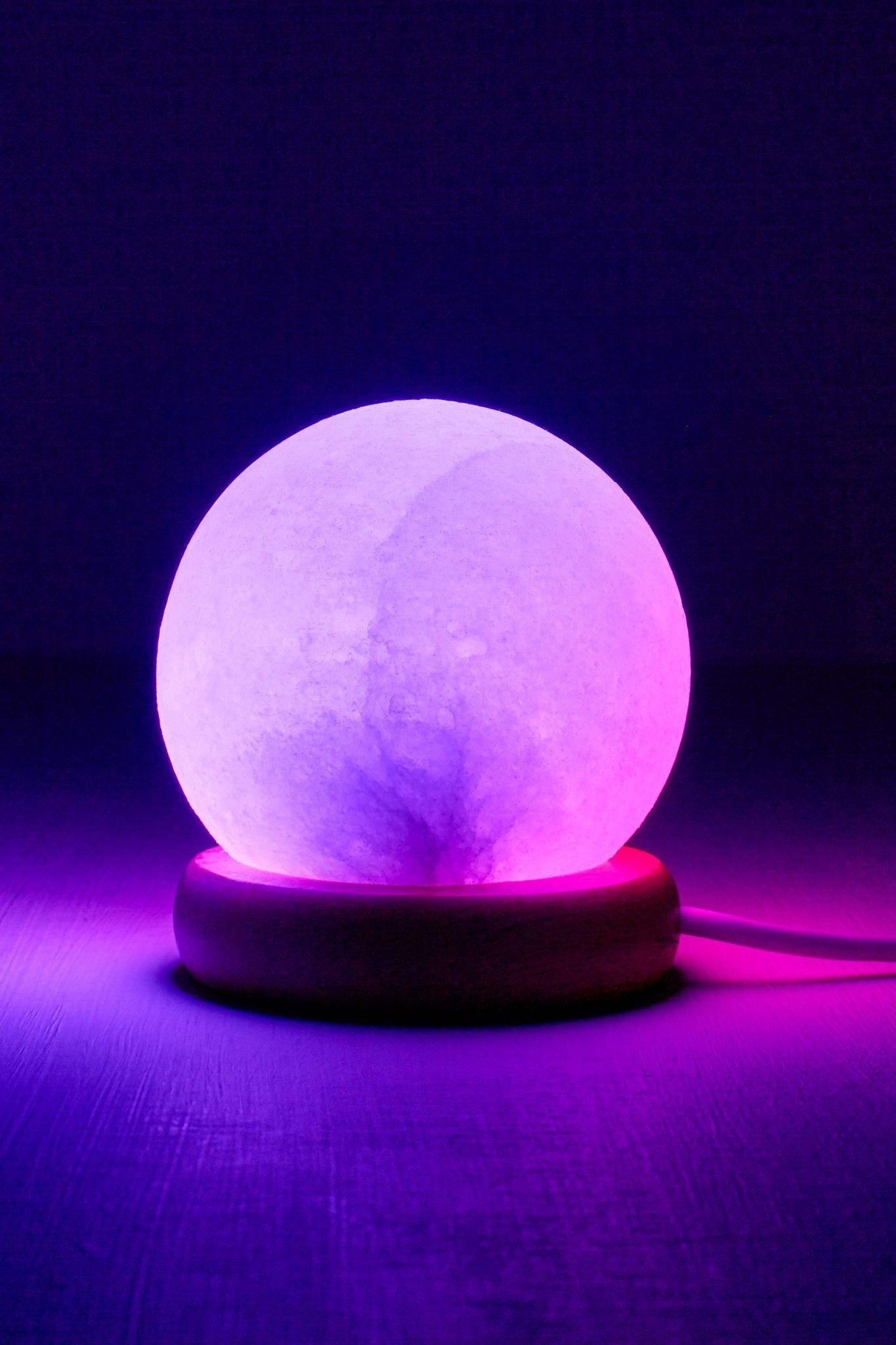 Purple Salt Lamp Pleasing Himalayan Salt Lamp Usb Ball Shape W Changing Colors 2 Lbs Design Inspiration