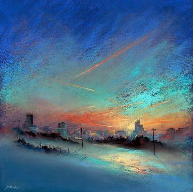 Pastel By Les Darlow Pastel Landscape Pastel Painting Abstract Art Landscape