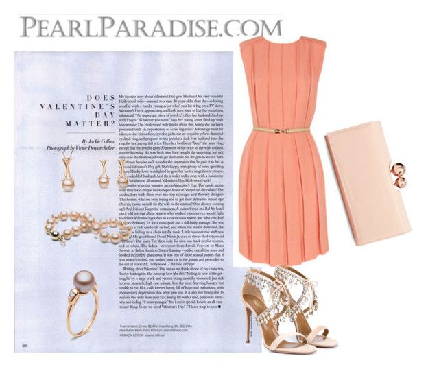 """""""pearljewelry"""" by agnesmakoni ❤ liked on Polyvore featuring Aquazzura, Ted Baker, women's clothing, women, female, woman, misses, juniors, valentinesday and pearljewelry"""