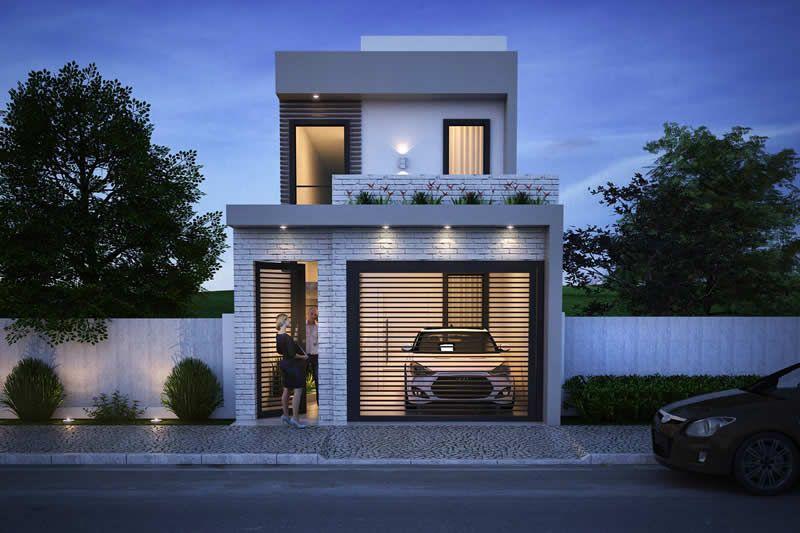 Plano de casa con 5 metros de frente Planos de Casas