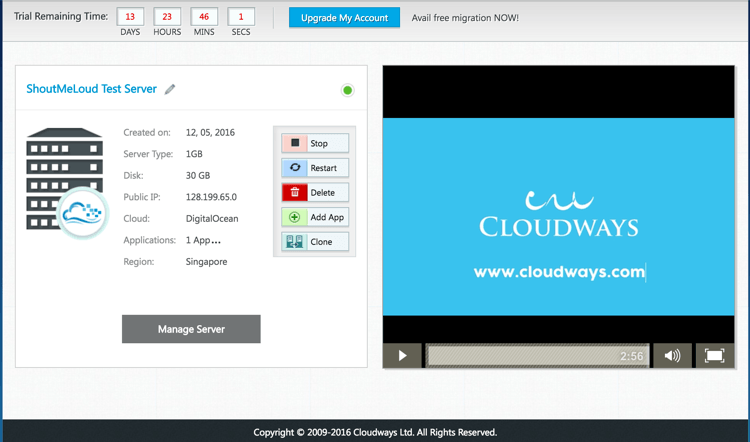 free cloud server without credit card