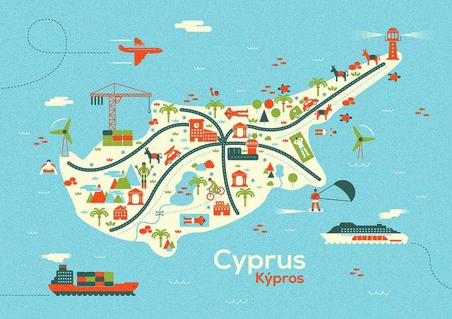 Cyprus Map In 2020 Zypern Zypern Urlaub Und Schone Reise