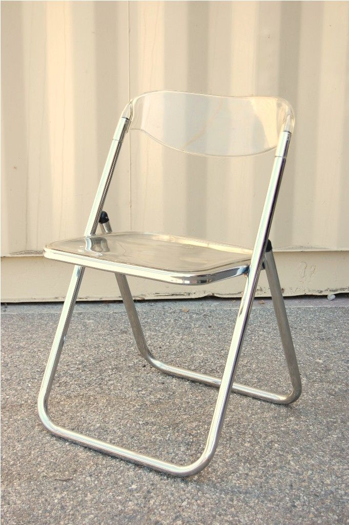 Set Of Two Folding Chairs Made In Italy By Castelli Lucite Chair Italian Design