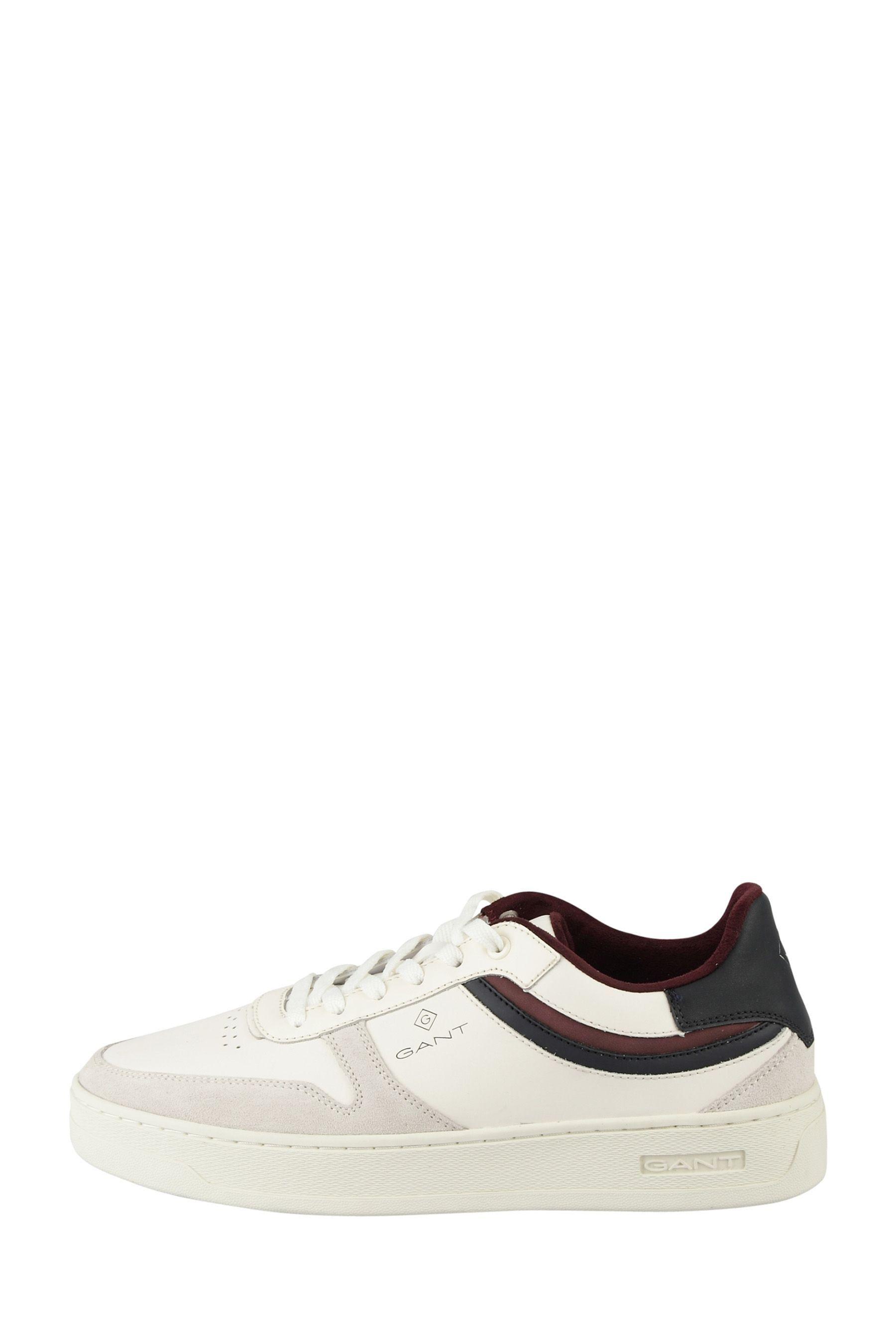 Mens GANT White Detroit Low Lace Shoes