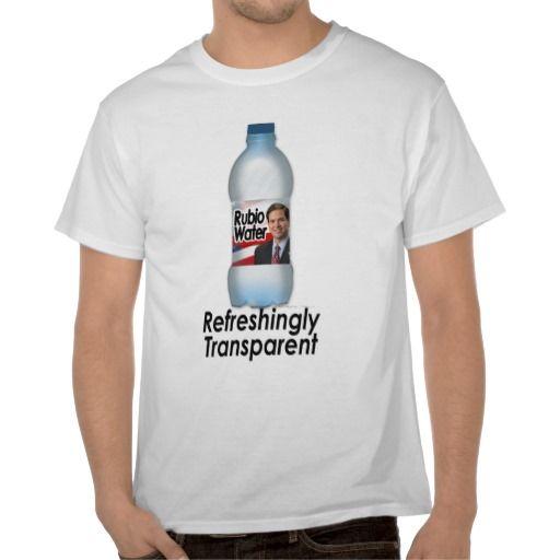 Marco Rubio Water, Refreshingly Transparent T-Shirt | Pro-Mitt ...