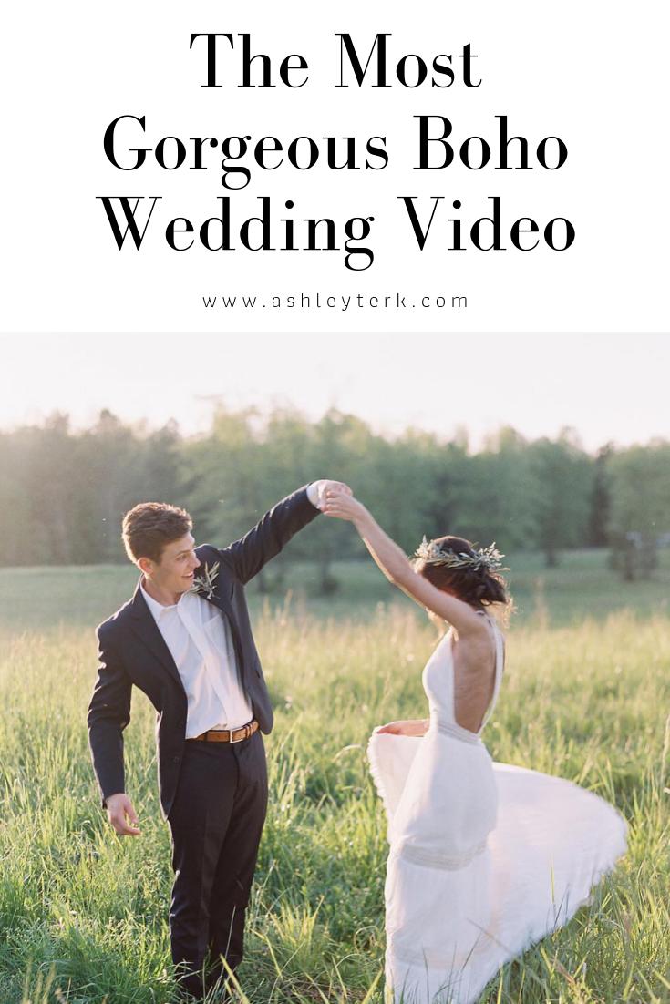 Our Boho Wedding Video Wedding Ashley Hodges Wedding Video Boho Wedding Blogger Wedding