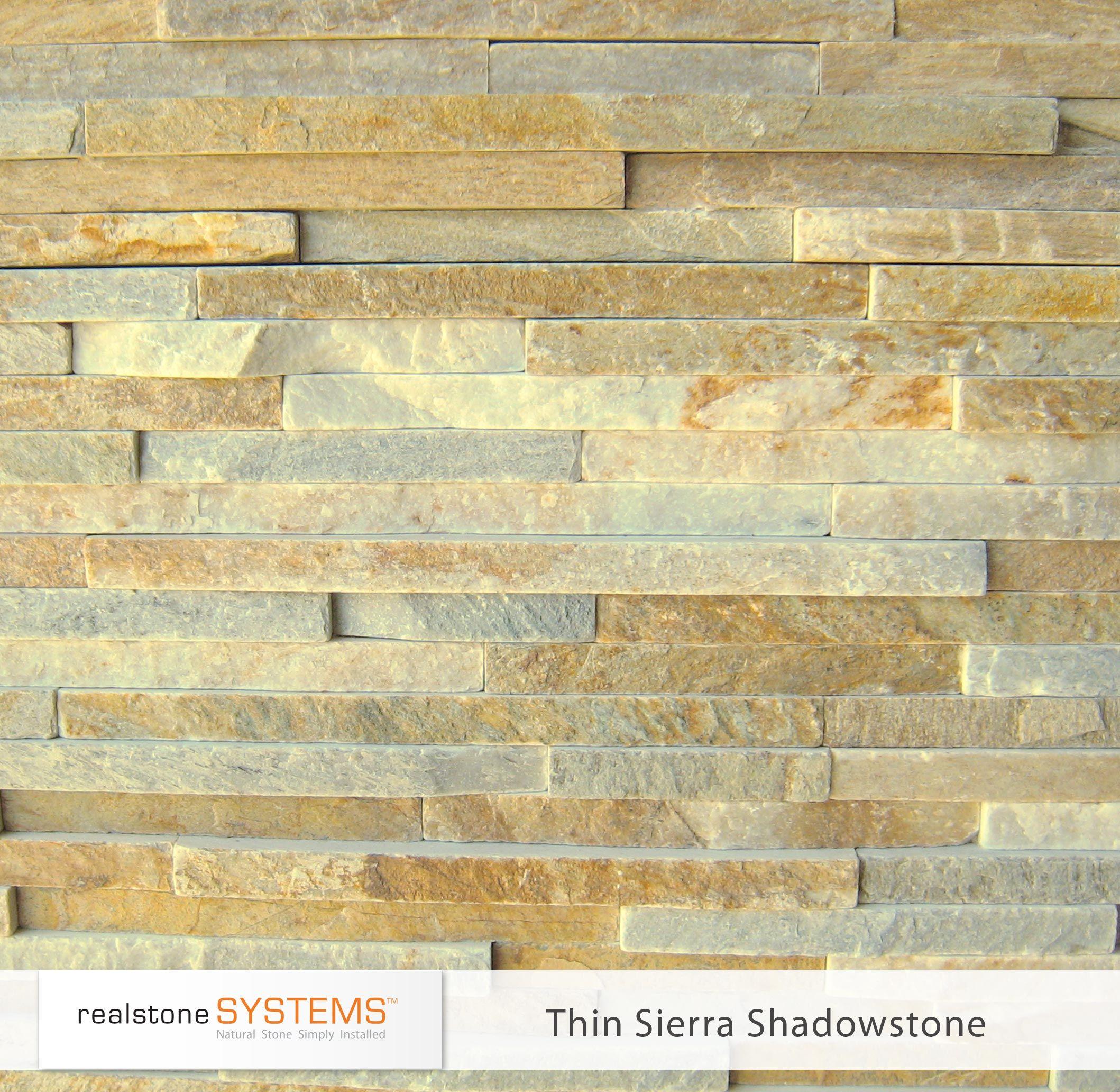 Thin Sierra Shadowstone, Thinstone Veneers from Realstone Systems ...